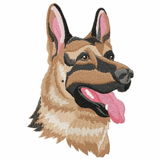 gsd049 German Shepherd Dog (small or large design)