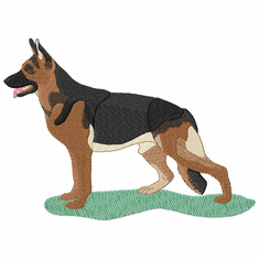 gsd050 German Shepherd Dog (small or large design)