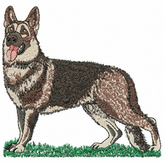 gsd053 German Shepherd Dog (small or large design)