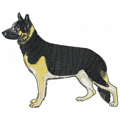 gsd056 German Shepherd Dog (small or large design)