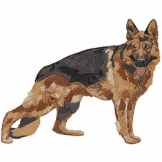 gsd072 German Shepherd Dog (small or large design)