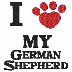 gsd073 German Shepherd Dog (small or large design)