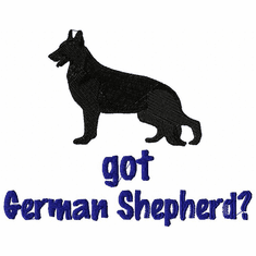 gsd074 German Shepherd Dog (small or large design)