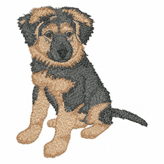 gsd084 German Shepherd Dog (small or large design)