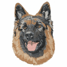 gsd085 German Shepherd Dog (small or large design)