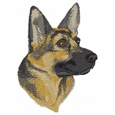 gsd090 German Shepherd Dog (small or large design)