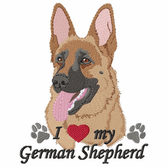 gsd095 German Shepherd Dog (small or large design)