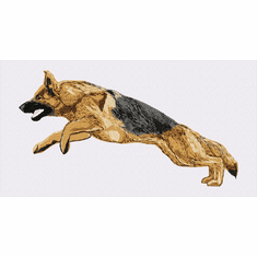 gsd096 German Shepherd Dog (small or large design)