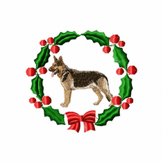 gsd1wreath German Shepherd Dog (small or large design)