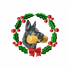 gsd3wreath German Shepherd Dog (small or large design)