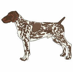 gsp004 German Shorthaired Pointer (small or large design)