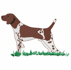 gsp007 German Shorthaired Pointer (small or large design)