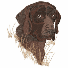 gsp014 German Shorthaired Pointer (small or large design)