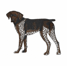 gsp016 German Shorthaired Pointer (small or large design)