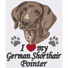 gsp030 German Shorthair Pointer (small or large design)