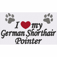 gsp032 German Shorthair Pointer (small or large design)