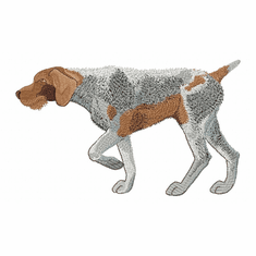 gwp004 German Wirehaired Pointer (small or large design)