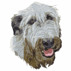 iwh007 Irish Wolfhound (small or large design)