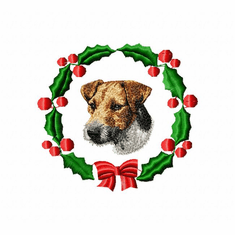 jrt1wreath Jack Russell /Parson Terrier (small or large design)