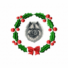 kees2wreath Keeshond (small or large design)