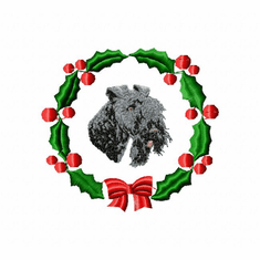 kerry1wreath Kerry Blue Terrier (small or large design)