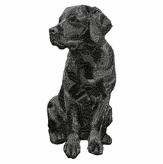 lab005 Labrador Retriever (small or large design)