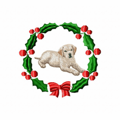 lab3wreath Labrador Retriever (small or large design)