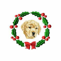 lab4wreath Labrador Retriever (small or large design)