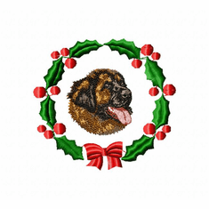 leon1wreath Leonberger (small or large design)