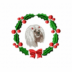 lhasa2wreath Lhasa Apso (small or large design)