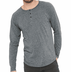 Long Sleeve Henley with small design