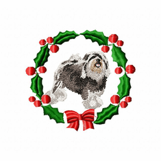 low1wreath Lowchen (small or large design)