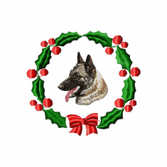 malinois1wreath Belgian Malinois (small or large design)