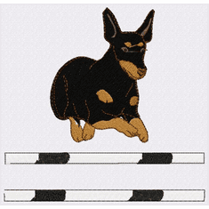man002 Manchester Terrier (small or large design)
