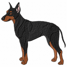 man006 Manchester Terrier (small or large design)