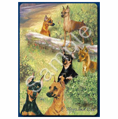 Miniature Pinscher Playing Cards