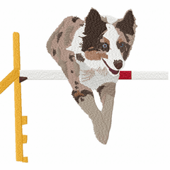 <font color=Black>Dog Sports</font color> AGILITY, Obedience, Herding, Nose Work, SAR, Tracking, Disk Dog, Dock Diving, Flyball Embroidery Designs on Clothing, Bags and Chairs