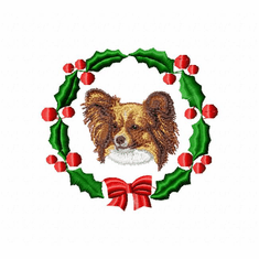 pap1wreath Papillon (small or large design)