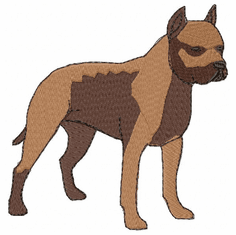 pbt004 Pit Bull Terrier (small or large design)