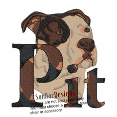 pbt012 Pit Bull Terrier (small or large design)