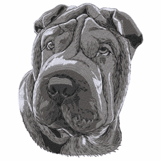 pei024 Chinese Shar Pei (small or large design)