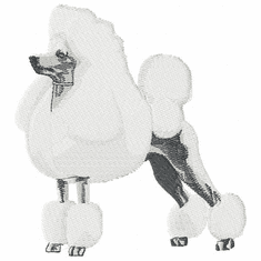 pood002 Poodle (small or large design)