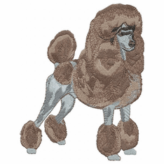 pood003 Poodle (small or large design)