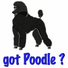 pood010 Poodle (small or large design)
