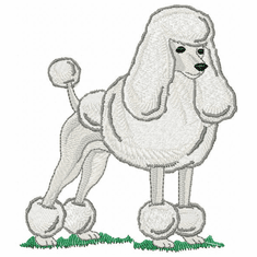pood011 Poodle (small or large design)