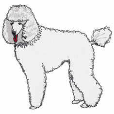 pood013 Poodle (small or large design)
