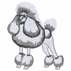 pood026 Poodle (small or large design)