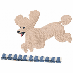 pood027 Poodle (small or large design)