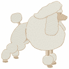 pood029 Poodle (small or large design)