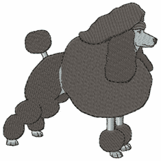 pood030 Poodle (small or large design)
